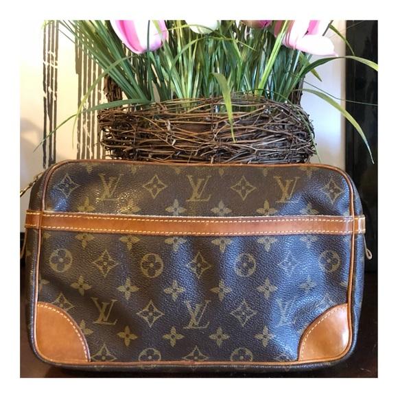 4f484968f Louis Vuitton Handbags - AUTHENTIC LOUIS VUITTON COMPIEGNE 28 CLUTCH BAG